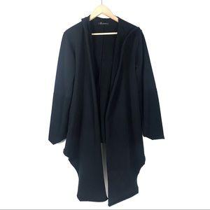Knomadik cardigan coat high low drape front knit